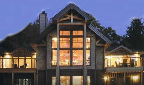 Cedar homes windwood post beam homes cedar custom homes for Windwood homes