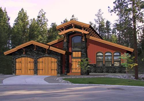 Timber frame oakridge post beam homes cedar homes for Cedar home designs