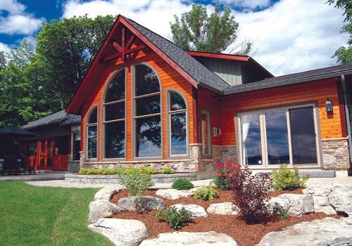 Shoreline award winning house plans custom cedar homes for Award winning lakefront house plans