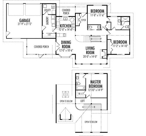 Shoreline Award Winning House Plans Custom Cedar Homes