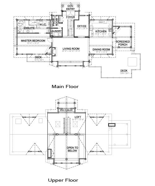 Kawarthan award winning custom homes post beam cedar for Post and beam house plans