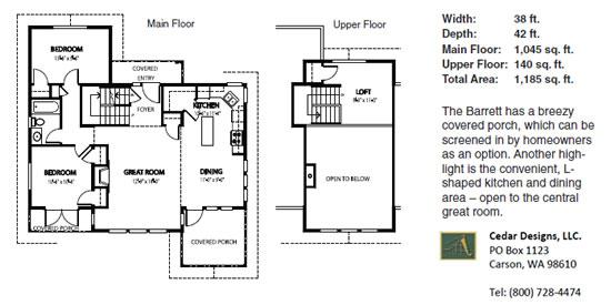 Barrett Classic House Plan   Cedar Homes   Custom Homes cedar home barrrett floor plan