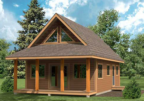 Cygnet custom cabins garages post and beam homes cedar for Small post and beam cabin plans
