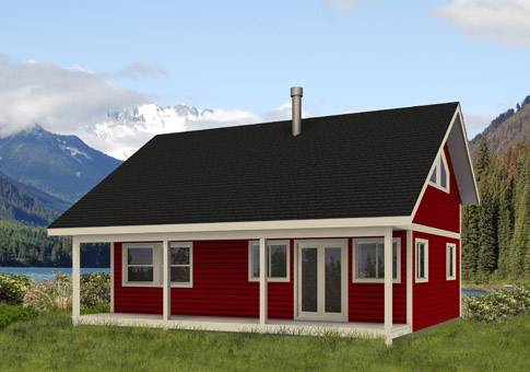 Kingfisher 1 custom cabins garages post and beam homes cedar house plans - Architecturally designed kit homes ...