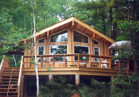 Ontario post beam custom cabins garages post beam homes for Post beam home plans