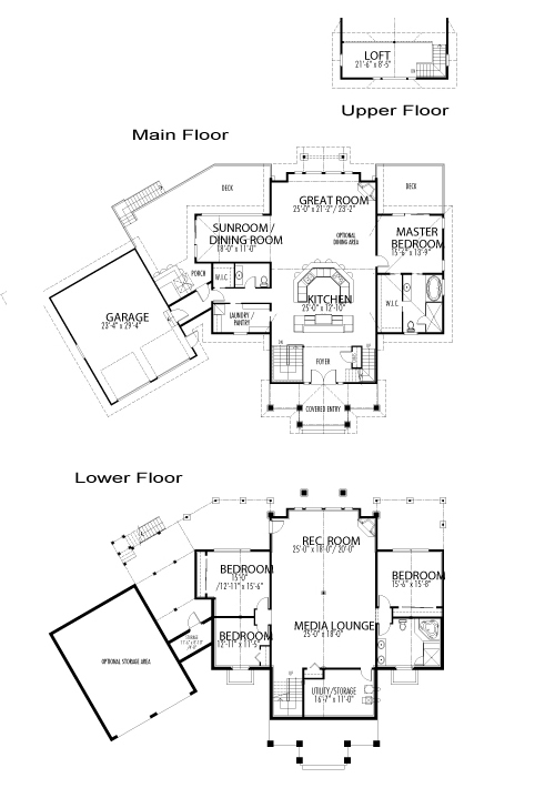Windwood custom estate homes post beam cedar homes for Post and beam floor plans