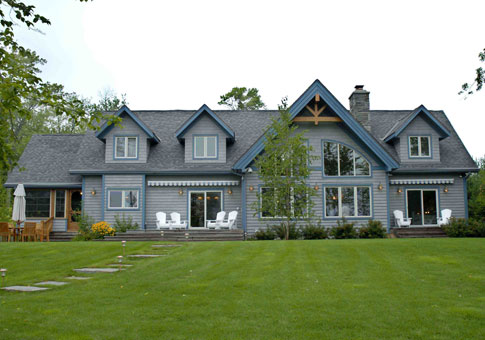 Muskokan custom estate homes cedar homes plans post for Post beam home plans