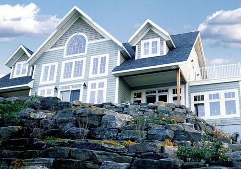 Timberlake custom estate homes post beam cedar homes for Custom estate home plans