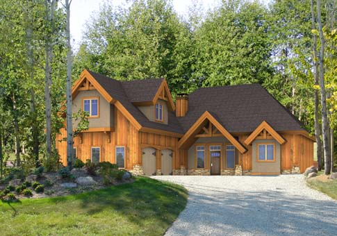 Jasper family custom homes post beam homes cedar homes for Post beam home plans