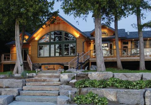 Buckhorn family custom homes post beam homes cedar for Post and beam homes cost