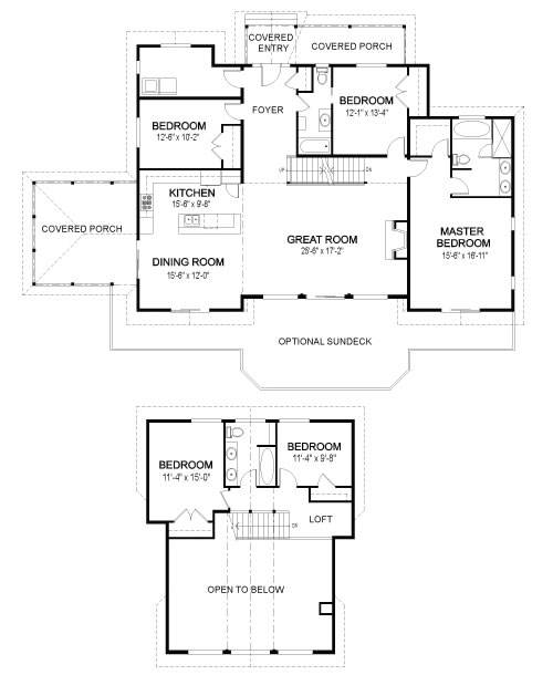 Eagle landing family custom homes post beam homes for Post and beam floor plans