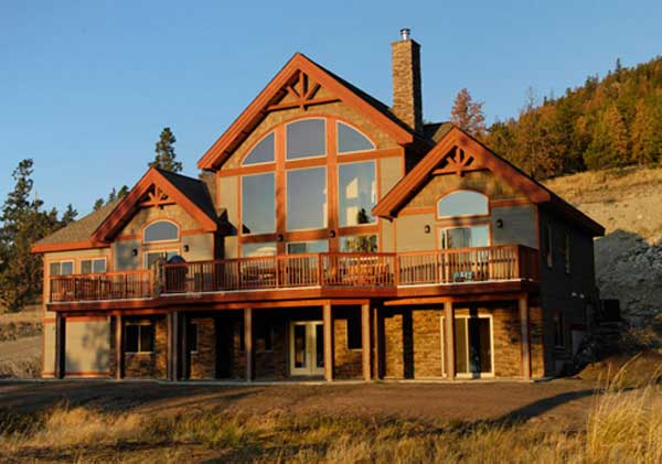 Eagle Landing Family Custom Homes Post Beam Homes Cedar House Plans