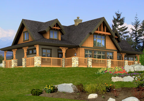 Cranbrook family custom homes post beam homes cedar for Small post and beam cabin plans