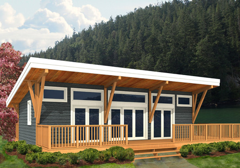 Finch custom retreats cottages post and beam homes for Maine post and beam kits