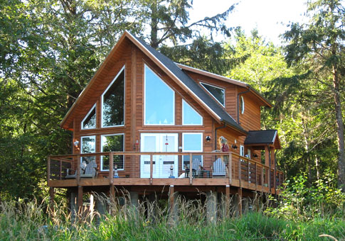 Kingsbury custom retreats cottages post beam homes for Alaska floor plans