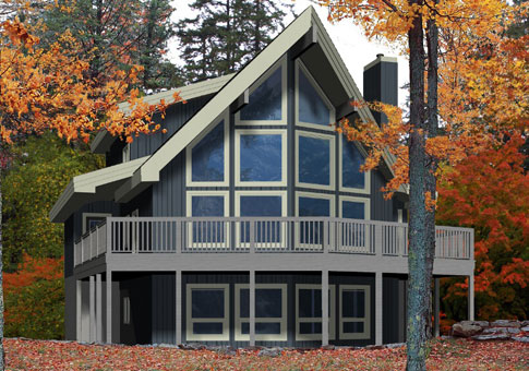Bonneville post beam retreats cottages post beam homes for Post and beam cottage designs