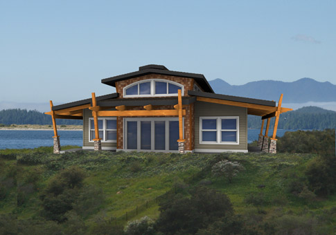 Carmel custom retreats cottages post beam homes cedar for Small post and beam cabin plans