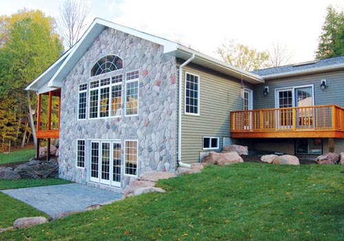 Hearthside custom retreats cottages cedar homes cedar for Post and beam cottage designs