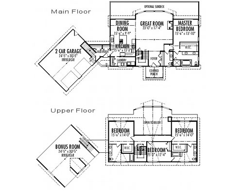 Balsam Custom Estate Homes Cedar Homes Plans Post And