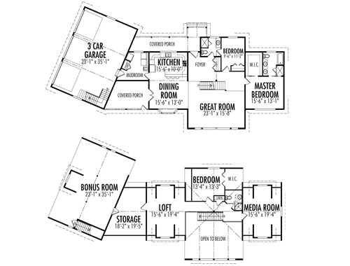Crafstman custom estate homes cedar homes plans post for Post and beam floor plans