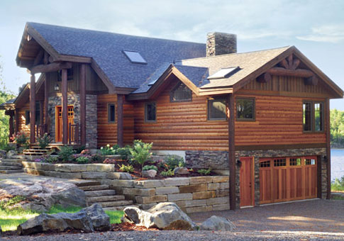 Kawarthan custom estate homes cedar homes plans post for Post and beam home plans free
