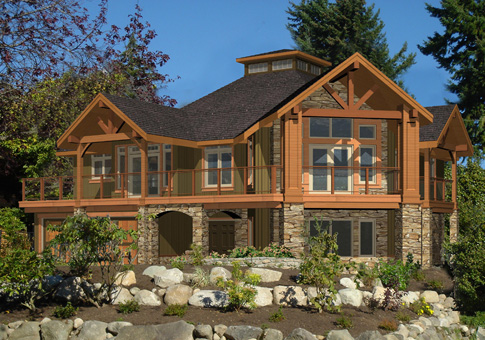 Post beam house plans and timber frame drawing packages by for Home designs bc