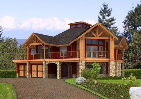 Longview Custom Estate Homes Cedar Homes Plans Post and Beam