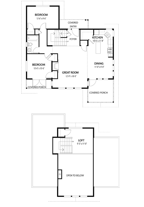 Barrett 2 top custom homes cedar homes post beam homes Cedar homes floor plans