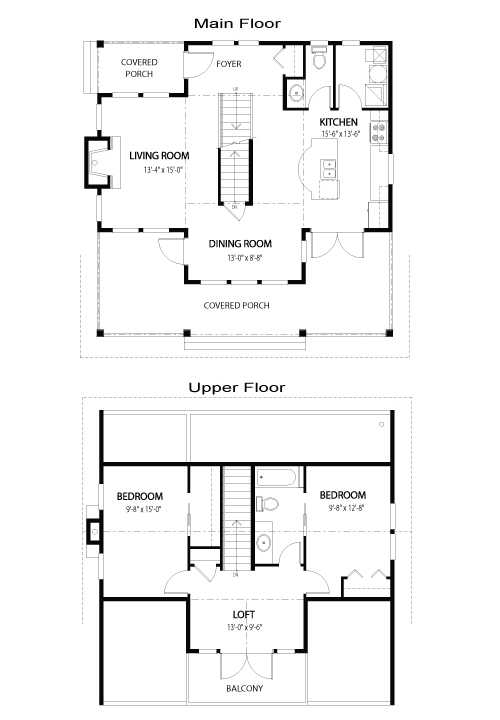 Prentice top custom homes cedar homes post beam homes for Cedar home floor plans