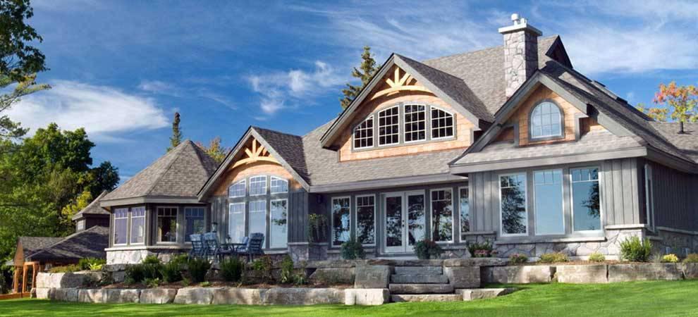 Cedar homes award winning custom homes post and beam for Award winning lakefront house plans