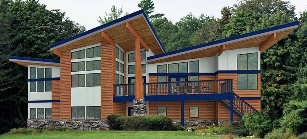 Cedar homes award winning custom homes post and beam for Award winning contemporary homes