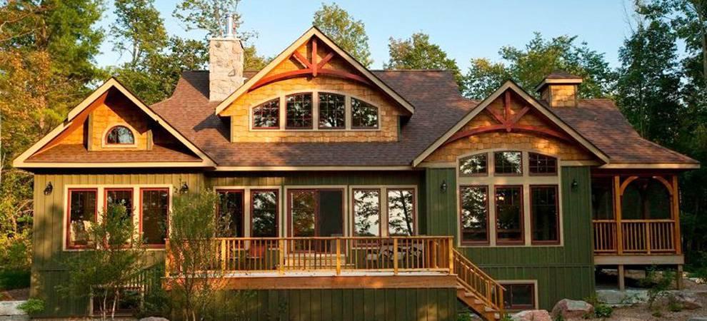 Cedar homes award winning custom homes post and beam for Custom cottage house plans