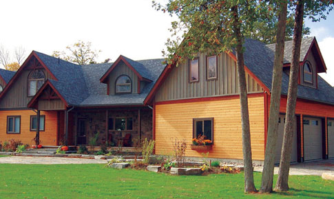 Crafstman custom estate homes cedar homes plans post for Post and beam house designs