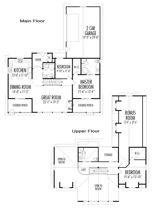 Morrison custom post beam homes cedar homes family for Post and beam floor plans