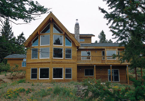 Colorado family custom homes post beam homes cedar for Post beam home plans
