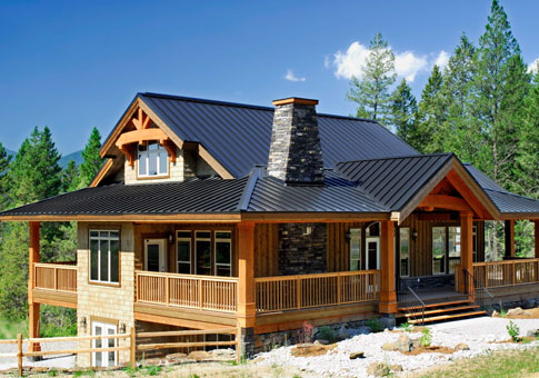 Osprey family custom homes post beam homes cedar homes for Small post and beam cabin plans