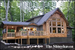 shorehaven cedar log home plans