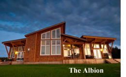 albion cedar custom homes
